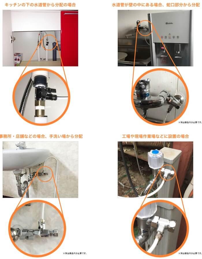 楽水ウォーターサーバーはどんな場所でも簡単に設置可能