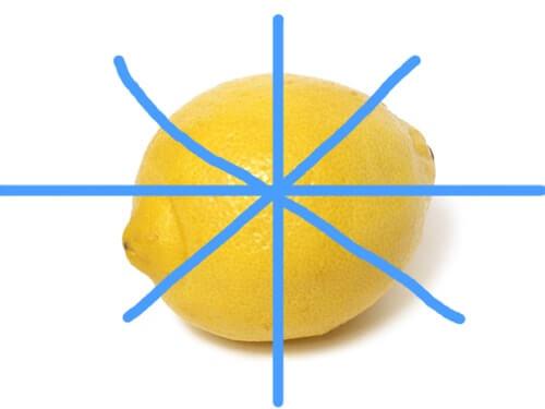フレーバーウォーターに入れる時のレモンの切り方