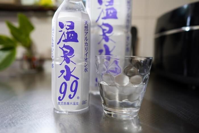お試し購入可能の温泉水99を飲んだ感想をご紹介しています。