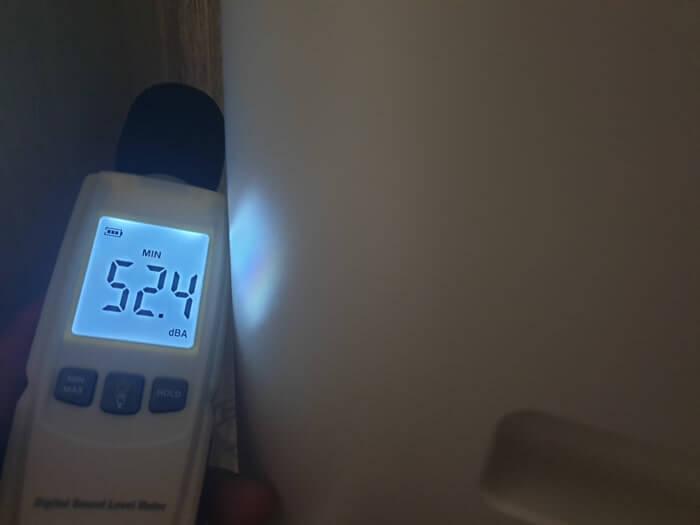 アクアファブの駆動音を測定した結果