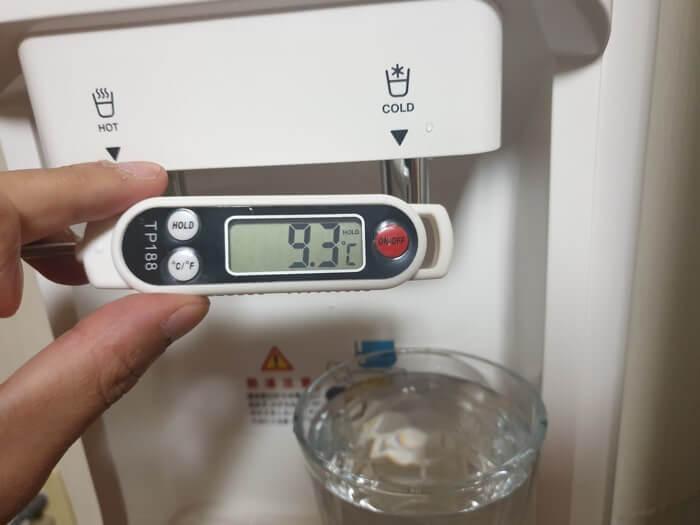 トーエルエコサーバーの冷水温度レビュー結果
