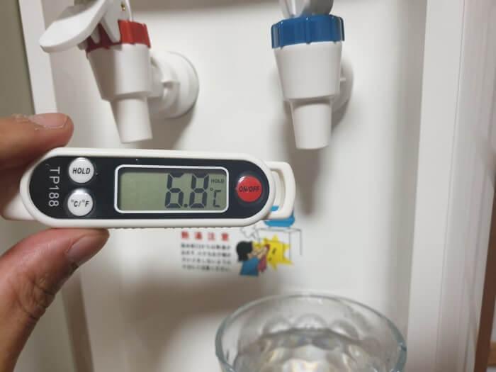 トーエルウォーターサーバーの冷水温度レビュー結果