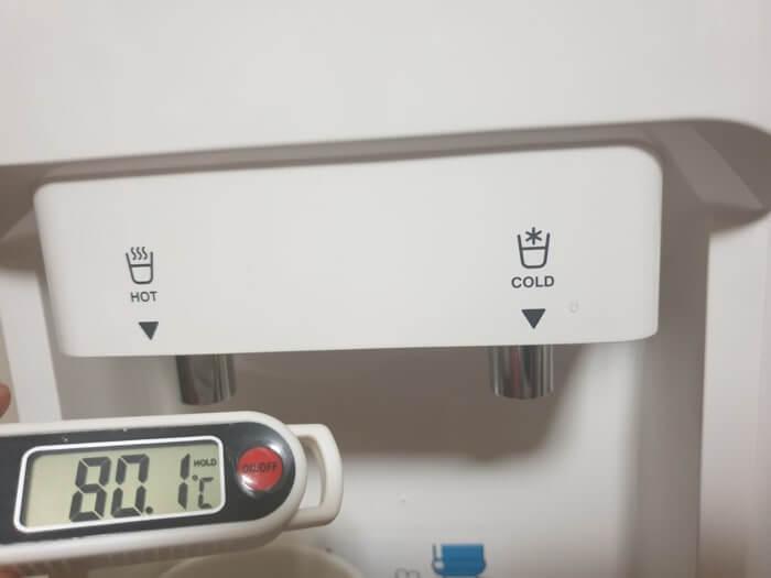 トーエルエコサーバーの温水温度レビュー結果