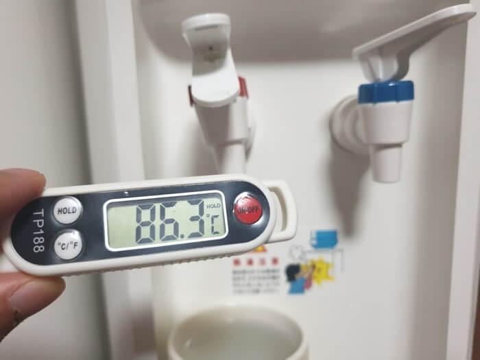 トーエルスタンダードサーバーの温水温度レビュー結果