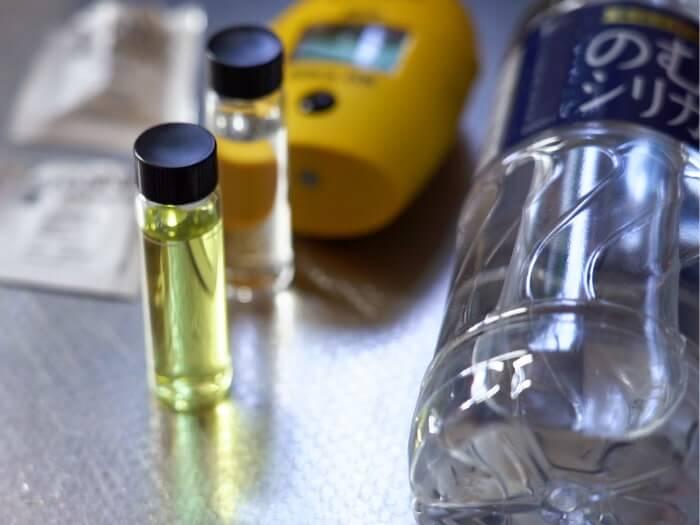 のむシリカのシリカ含有量を測定
