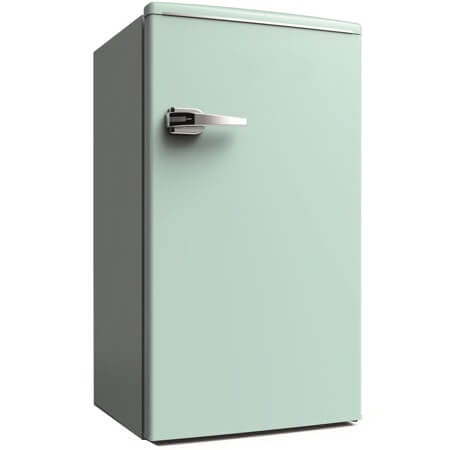 エスキュービズム S-cubism 1ドア レトロ冷蔵庫 85L WRD-1085G ライトグリーン