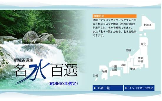 昭和の名水百選について