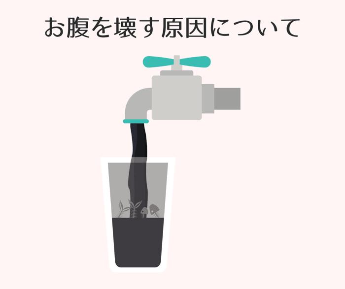 水道水でお腹を壊してしまう原因を簡単にご紹介しています。
