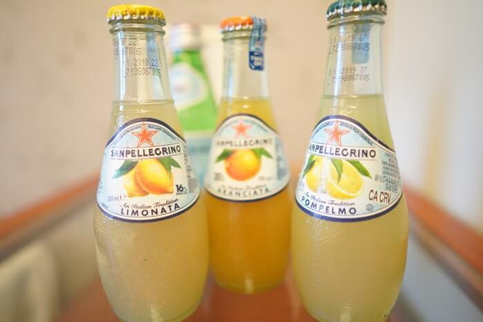 サンペレグリノにはこのようなフルーツタイプの味もバリエーションとして用意されています。