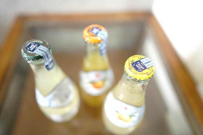 果汁が含まれているサンペレグリノ。