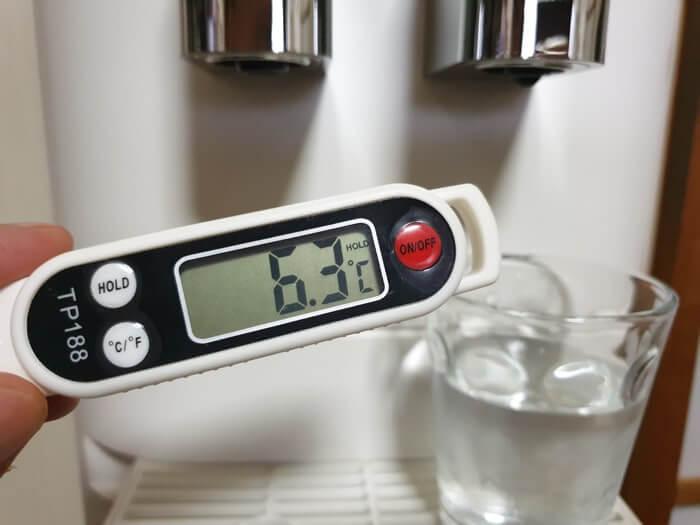 アクアクララから販売中のアクアファブの冷水温度測定結果