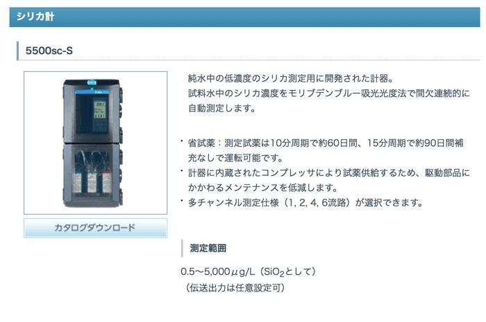 シリカ濃度を測定する機械は一応販売されています。