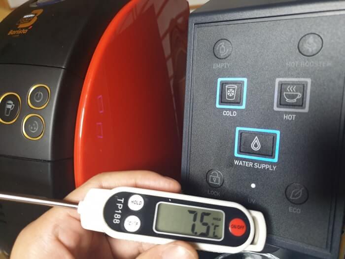 アクアウィズの冷水温度