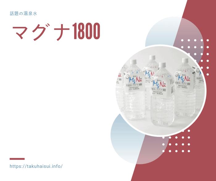 マグナ1800(温泉水)の特徴