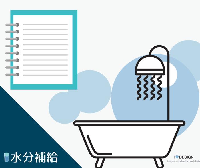 お風呂と水分補給/入浴前後と入浴中の3回に分ける重要性とおすすめミネラルウォーター