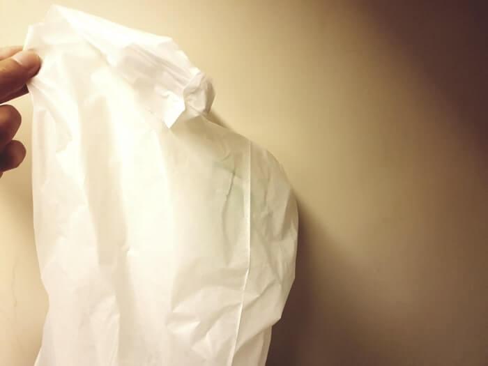 みかん風呂の材料が溜まるまではスーパーの袋等に保管しておきましょう