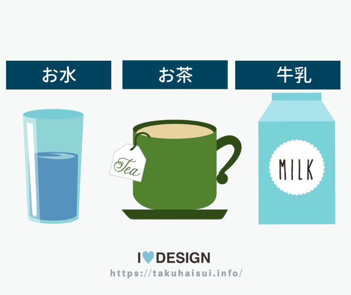 便秘に効く飲み物として有名なのがお水・牛乳・お茶の3種類の飲み物