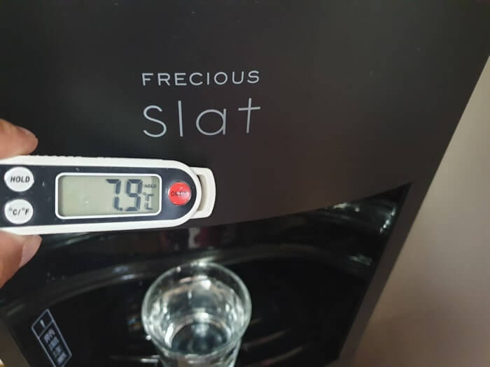 フレシャススラットの冷水温度測定結果