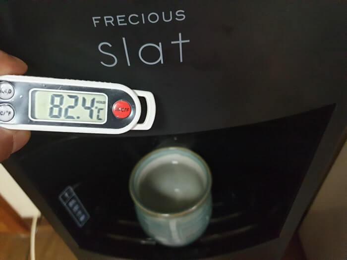 スラットの温水温度測定結果