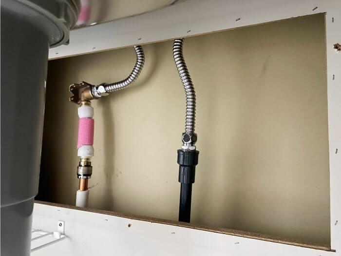 水道直結式設置時のやり取・最寄りの水栓(分岐箇所の写真)2