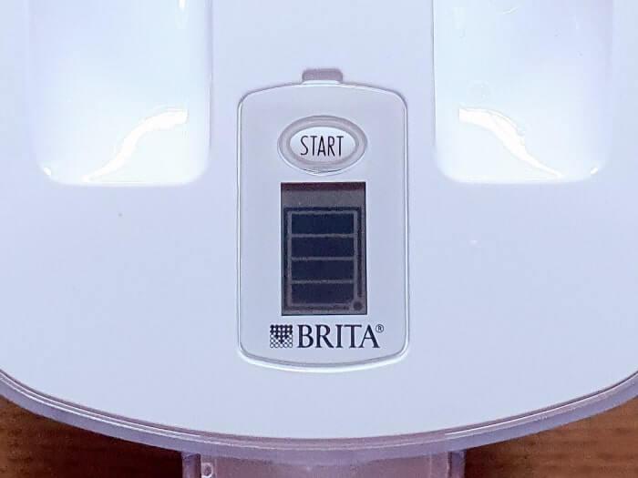 ブリタポット型浄水器の液晶(カートリッジ交換目安)