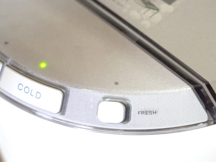 フレシャスデュオのフレッシュモードボタン