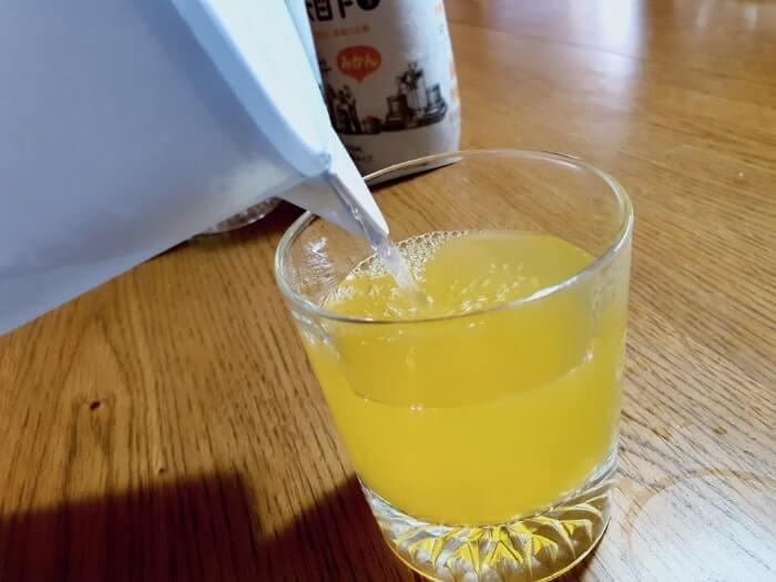 ブリタポット型浄水器のお水で美酢を作る