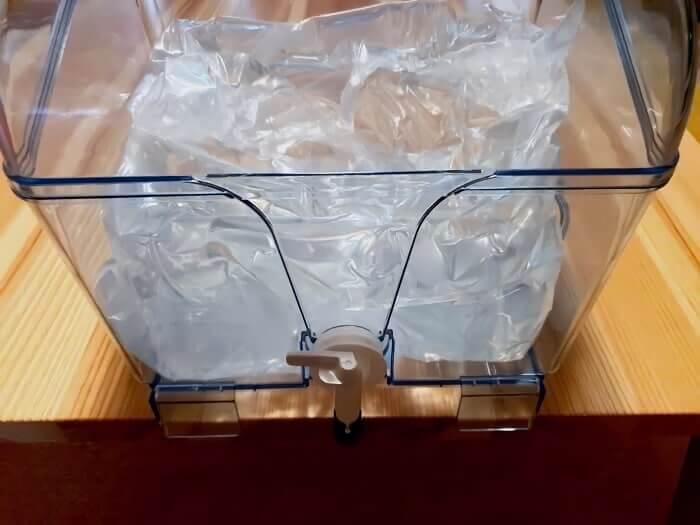 ふじざくら命水の天然水は自由に持ち運び可能