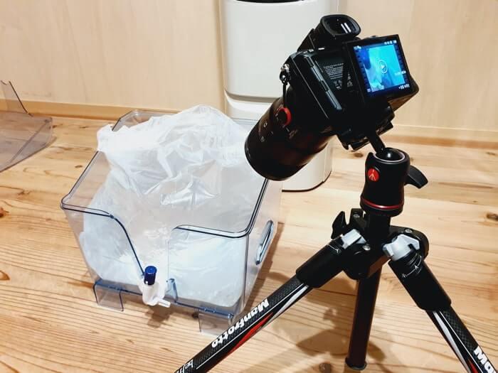 ふじざくら命水の天然ボトルバックを撮影