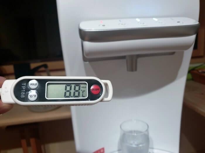 ハミングウォーターの冷水温度測定結果