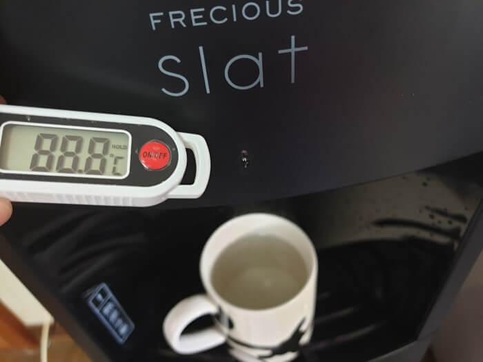 スラットの高温水(リヒートモード)の温度を実際に測定